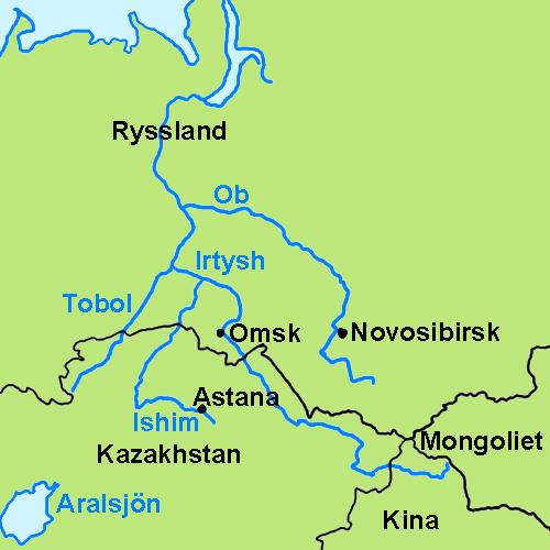 russisk flod med o
