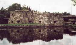 The ruins of Kajaani castle.
