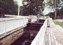 �mm�koski lock chamber and upper gate.