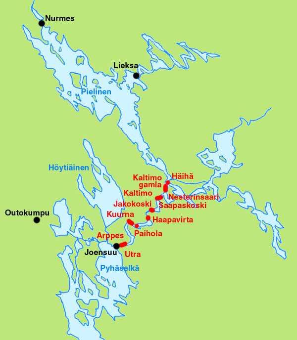 Pielisjoki canals