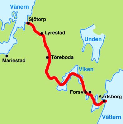 gøta kanal kart Göta kanal