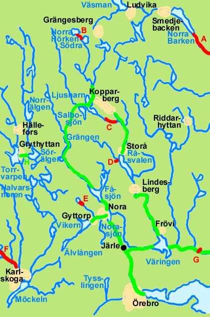 Kanaler Och Kanalplaner I Nora Och Lindesbergs Bergslager